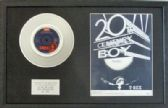 T REX (MARK BOLAN) - 7inch Platinum Disc & Song Sheet - 20TH CENTURY BOY